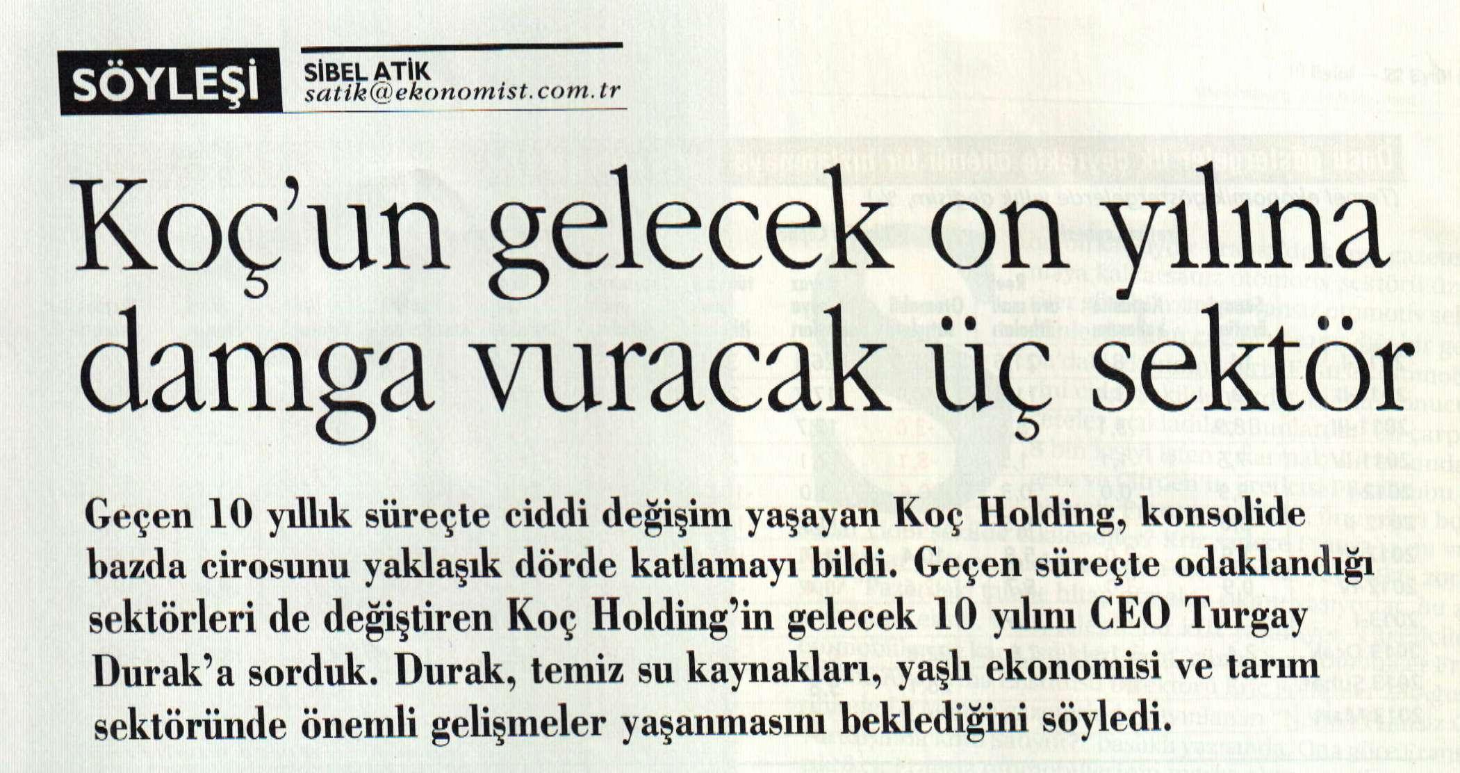 KOC Holding Hedef